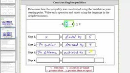 Determine The Construction Steps Of A Three Step Inequality