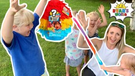 Ryan's World Pinata Egg Opening with Disney Princesses  Squishy, Slime, and Toy Surprises Inside