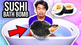 DIY Giant Bath Bomb Made Out Of SUSHI