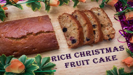 Rich Christmas Fruit Cake Without Rum - Eggless No Butter Plum Cake- Oven And Pressure Cooker Method