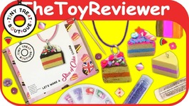 Tiny Treat Boutique Slice Cake Charm Kit DIY Craft Polymer Clay Unboxing Toy Review
