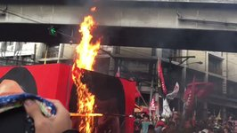 Protesters Burn Duterte-Hitler Effigy at Anti-Government Rally in Manila