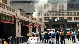 New Yorkers Watch Smoke, Flames Rise from Grand Central Terminal Fire