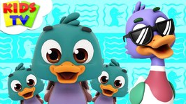 Funny Little Ducks - The Supremes - Cartoon Videos - Nursery Rhymes For Babies