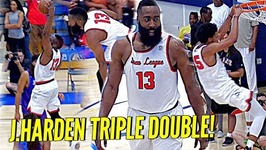 James Harden Triple Double At The Drew League Straight Cookin W/ Marvin Bagley