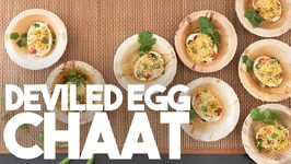 Deviled Egg Chaat - Street Style Fusion - Kravings