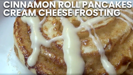 Cinnamon Roll Pancakes With Cream Cheese Frosting