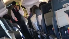 Flight Attendant Raps Safety Briefing on Delta Flight in Montgomery