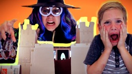 Haunted Box Fort Castle - The Ghost King vs The Bad Witch Ft Kidz Bop Kids 2017