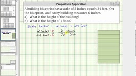 Determine the Height of a Building Using a Scale Factor - Proportion