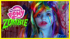 ZOMBIE MY LITTLE PONY RAINBOW DASH MAKEUP TUTORIAL - Equestria Doll Cosplay Halloween