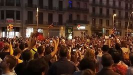 Supporters of Catalan Independence Gather in Central Barcelona
