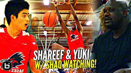 Shaq Watches Shareef O'neal And Yuuki Okubo Show Out Vs Damien But Was It Enough