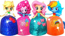 Play Doh Sparkle Rainbow Princess Dresses My Little Pony Equestria Girls Diy Glitter Play Doh Dress