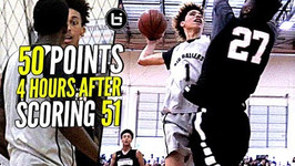 Lamelo Ball Back To Back 50 Point Game But Was It Enough Melo Tries To Poster Defender Lol