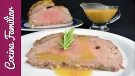 Roast beef con aroma de romero  Recetas de Javier Romero