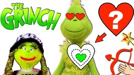 FIND THE GRINCH'S HEART! Valentine's Day Heart Game w/ Grinchette  Surprise Toys