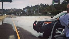 Water Main Break Causes Sinkhole Near San Diego