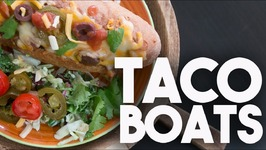 TACO Boats - MEXICAN Style Stuffed SUBS - Easy Weeknight Meals