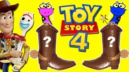 Toy Story 4 SNAKE IN MY BOOT GAME w/ Surprise Toys, Forky vs Ducky