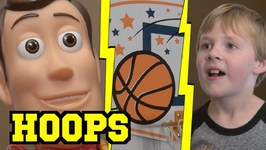Toy Story 4 - Hoops Basketball Clothes Hamper Game - Woody Buzz Lightyear
