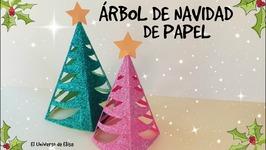 Árbol De Navidad De Papel Manualidades Para Navidad Paper Christmas Tree Pino De Navidad