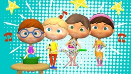 The Mulberry Bush Kids Song- Nursery Rhymes