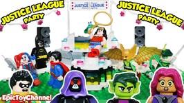 Teen Titans Go Lego Mini Figures Sneak Into Justice League Stop Motion Dance Party