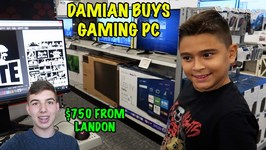 DAMIAN BUYS a GAMING PC - LANDON GIVES HIM 750 - D and D SQUAD