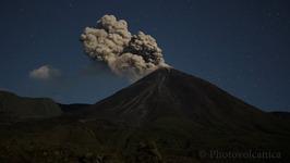 Reventador Volcano Blows Smoke and Lava