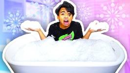 BATHING IN A SNOW BATH TUB - EXTREME