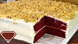 My 1st Red Velvet Sheet Cake / How To Make A Sheet Cake /Practicing My Skills
