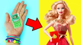 10 AMAZING BARBIE DOLL HACKS - 4 - Easy doll crafts in 5 minutes or less