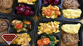 Meal Prep Ideas - Turkey Meat Loaf - Cabbage - Spinach And Mushrooms