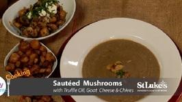Chef Anthony Bonett - Vegan Mushroom Soup And Oven Roasted Mushrooms With Truffle Oil