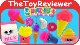 Squeezables Squishy Toy Haul Kawaii Yoyo LipGloss Cute Soft Unboxing Toy Review