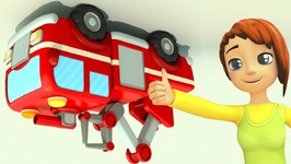 Car School 2  Fire Truck Cartoon  Big Cars For Kids  Cartoons For Children