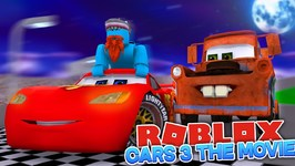 I'M IN THE CARS 3 MOVIE - Sharky Gaming - Roblox