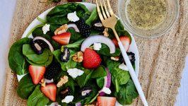 Mixed Berry Salad with Lemon Poppyseed Dressing