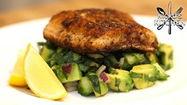Blackened Salmon With Avocado Salsa / Low Carb Keto Recipe