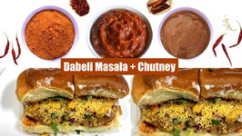 How to Make Dabeli Masala And Chutneys - Indian Street Food - Katchi Dabeli