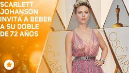 Scarlett Johansson invita a beber a su doble de 72 años