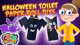 SPOOKY Toilet Paper Rolls - Halloween Crafts - Crafty Carol - Crafts for Kids - Cartoons for Kids
