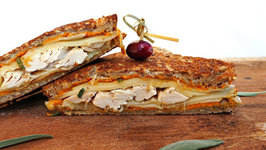 Sandwich Recipe-Pumpkin And Turkey Grilled Cheese