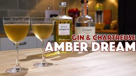 Amber Dream Cocktail 2 Ways Chartreuse And Gin