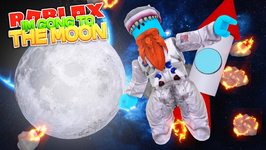 I'M GOING TO THE MOON !! Sharky Gaming - Roblox