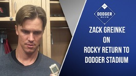 Zack Greinke On First Start At Dodger Stadium Since Diamondbacks Signing