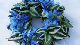 DIY Flower Wreath  Dollar Tree Crafts