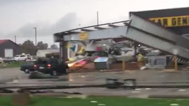 Damage Reported After Possible Tornado in Celina