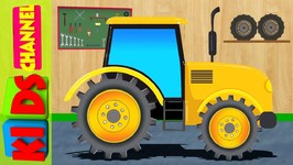 Tractor - Farm Vehicles For Kids - Car Garage